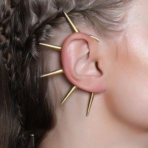 14k Gold-Plated Spike Ear Cuff